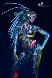 Bodypainting Airbrush Master Class for SLA Paris with Alex Hansen